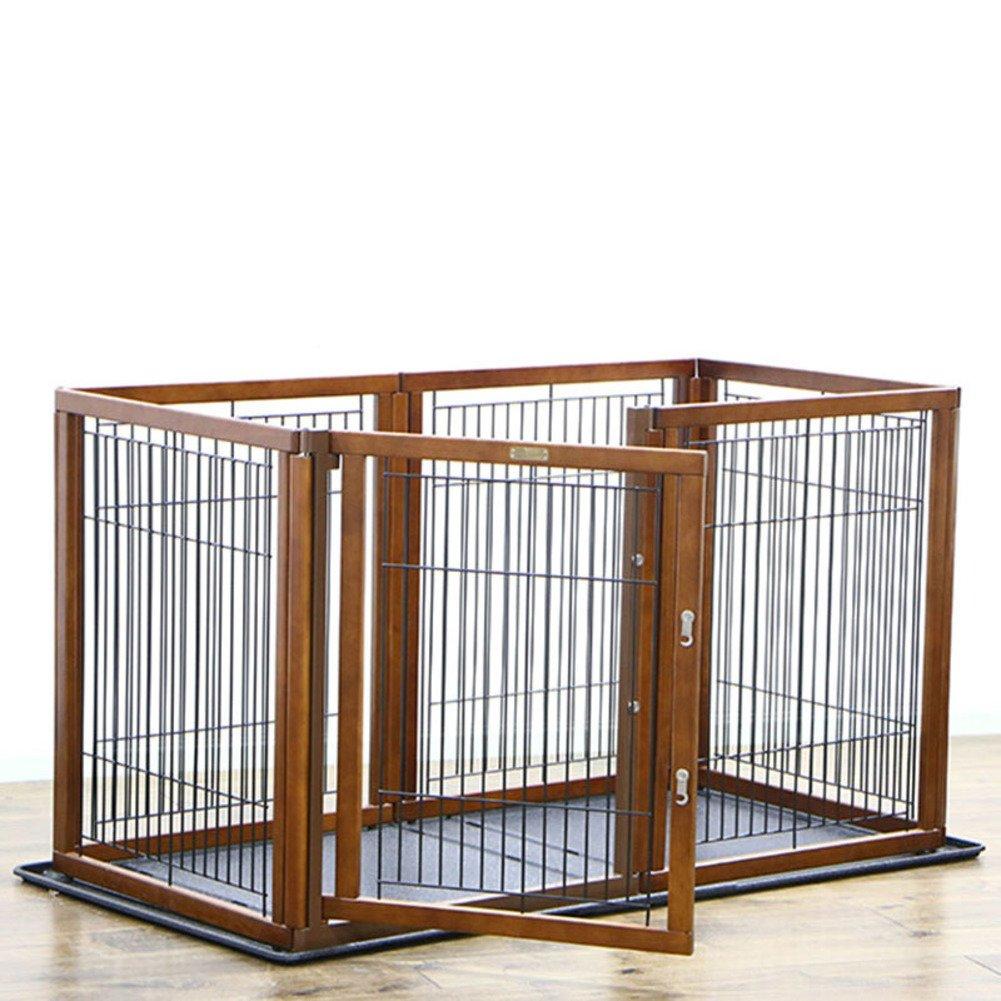 折り畳み式の金属製犬クレート,ペットのケージ フェンス 犬ケージ 小型、中型犬の犬小屋 ペット犬小屋大オープン犬小屋屋内犬クレート トレイ 屋外犬のクレート パッド-B B07CVVJCNL 16885 B B