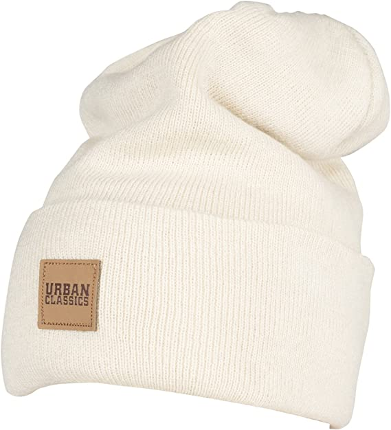 Leatherpatch Long Beanie Hat Urban Classic 9y7gFs