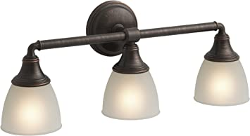 6303400 Elvaston Three Light Indoor Wall Fixture Oil Rubbed Bronze Finish W Fros