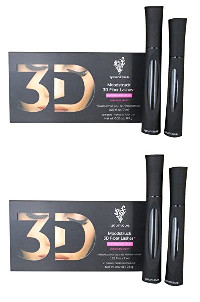 Amazon.com : Younique Moodstruck 3D Fiber Lashes, Fortified With Uplift: Transplanting Gel (2 Pack) + FREE Travel Toothbrush, Color May Vary : Beauty