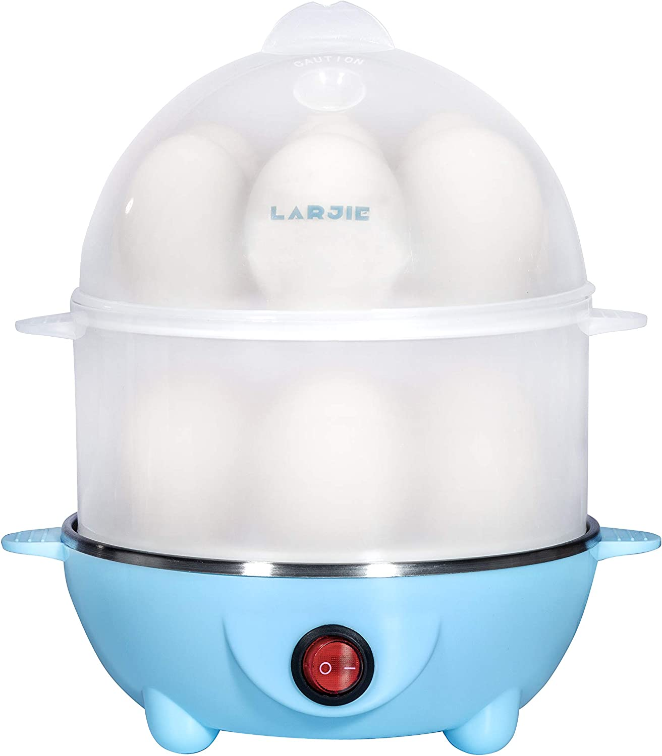 Electric Egg Boiler Cooker Rapid Poacher 7 or 14 Capacity Soft Medium Hard Boiled or Poached for Hard Boiled Scrambled Eggs or Omelets Steamed Vegetables Seafood w/Auto Shut Off Feature