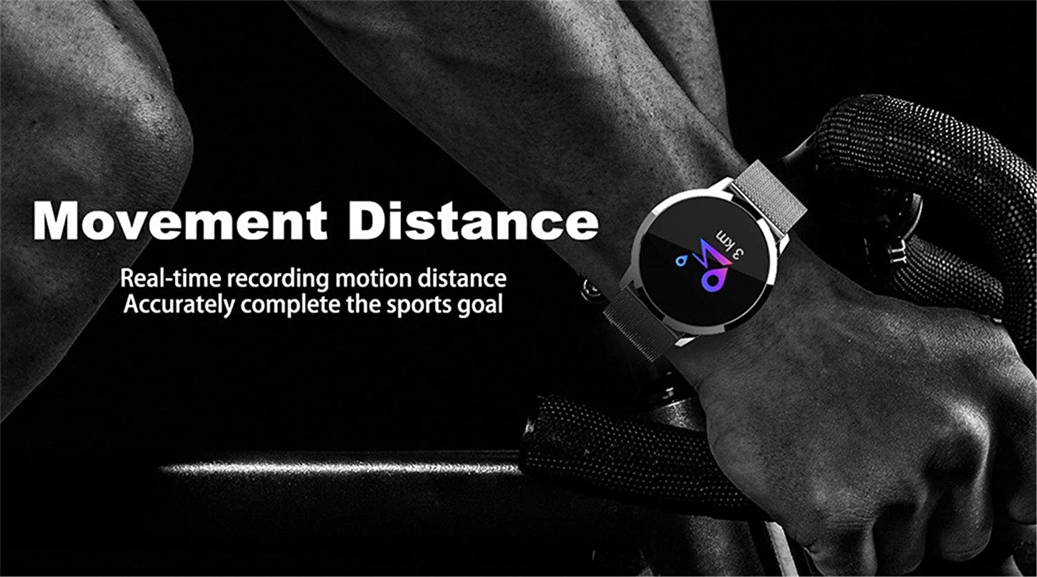 Amazon.com: WoCoo Smart Watch Q8 OLED Color Screen Smartwatch Women Fashion Fitness Tracker Heart Rate Monitor for Android iOS: Kitchen & Dining