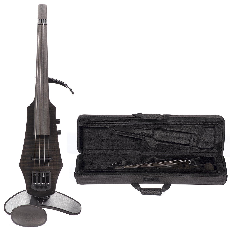 NS Design WAV-4 Electric 4-String Gloss Black Violin with Hard Case
