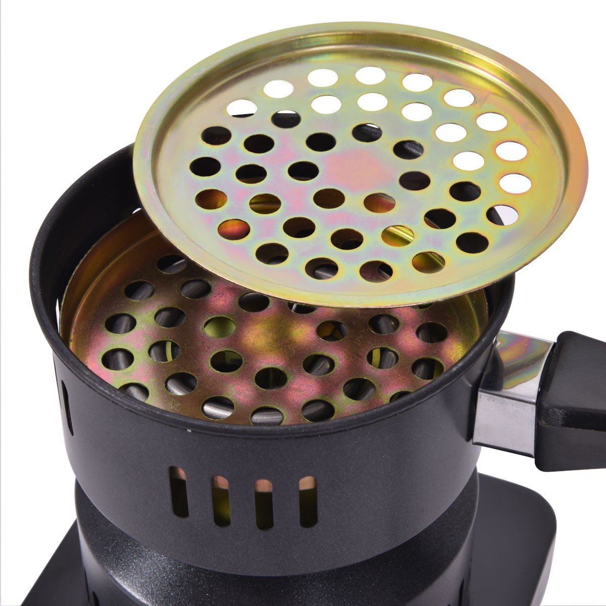Electric Charcoal Starter Hookah Shisha Nargila Heater Stove Charcoal Burner Costway by COSTWAY (Image #4)