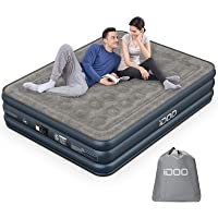 iDOO Queen Size Air Mattress, Inflatable Airbed with Built-in Pump, 3 Mins Quick Self-Inflation/Deflation, Comfortable…