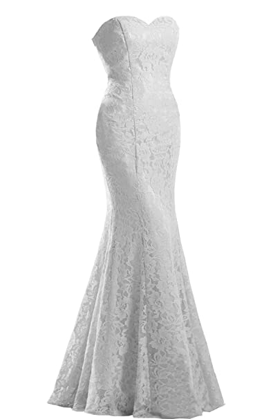 Amazon.com: jinxuanya Mujer de encaje vestido de novia ...