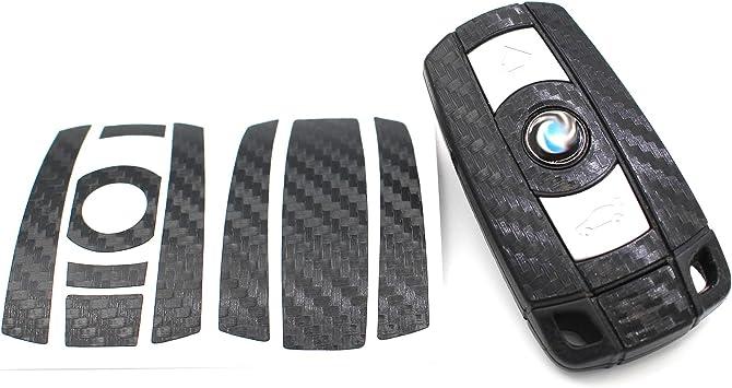 Finest Folia Schlüssel Folie K141 Für 3 Tasten Auto Schlüssel Nur Keyless Go Folien Cover Schwarz Carbon Auto