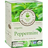 Traditional Medicinals Organic Herbal Tea Peppermint -- 16 Tea Bags Each / Pack of 2