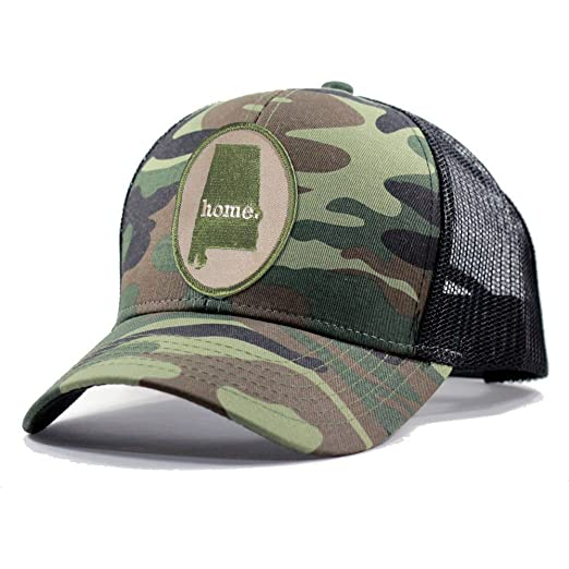 d8a2b7c8165fc ... top quality homeland tees mens alabama home state army camo trucker hat  army green 98234 ad6d1