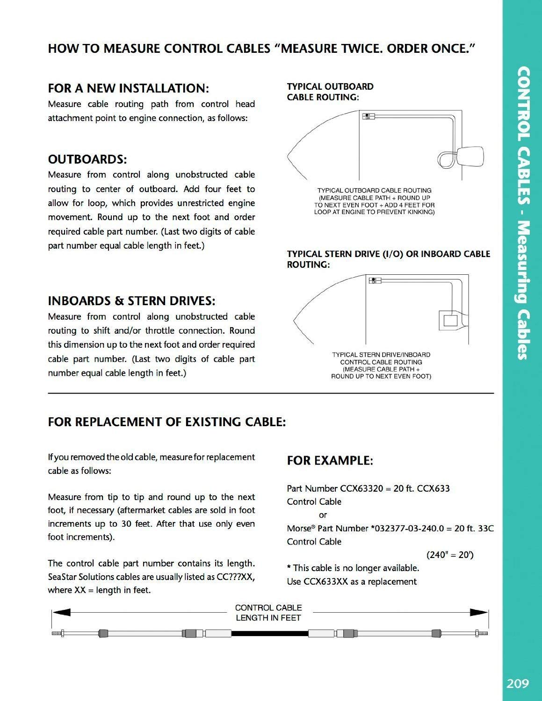 SeaStar Dometic Control Cable Renewed CC189XX
