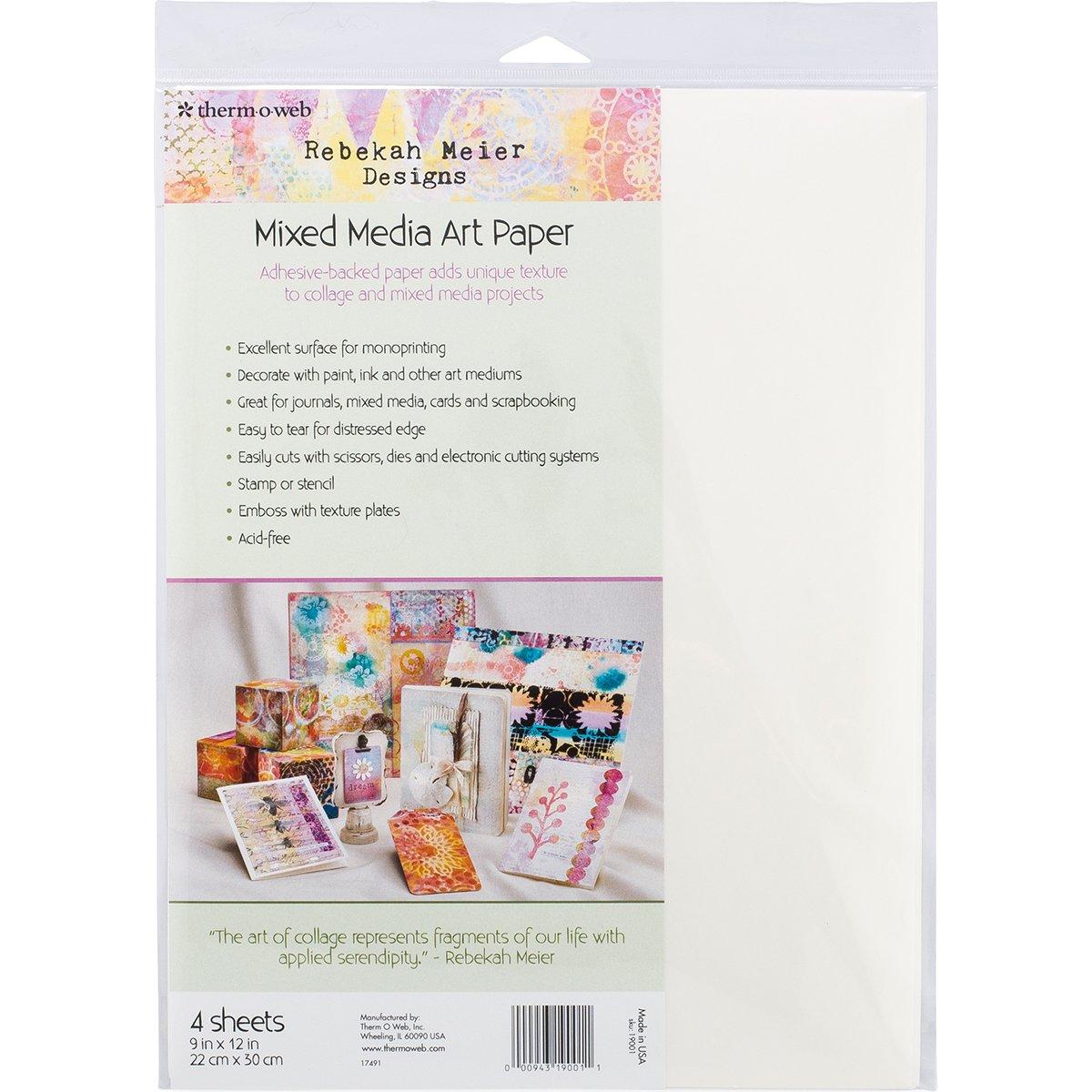 Rebekah Meier Designs Mixed Media Art Paper 9'' x 12'' (4 sheets per pack) by Rebekah Meier Designs for Therm O Web