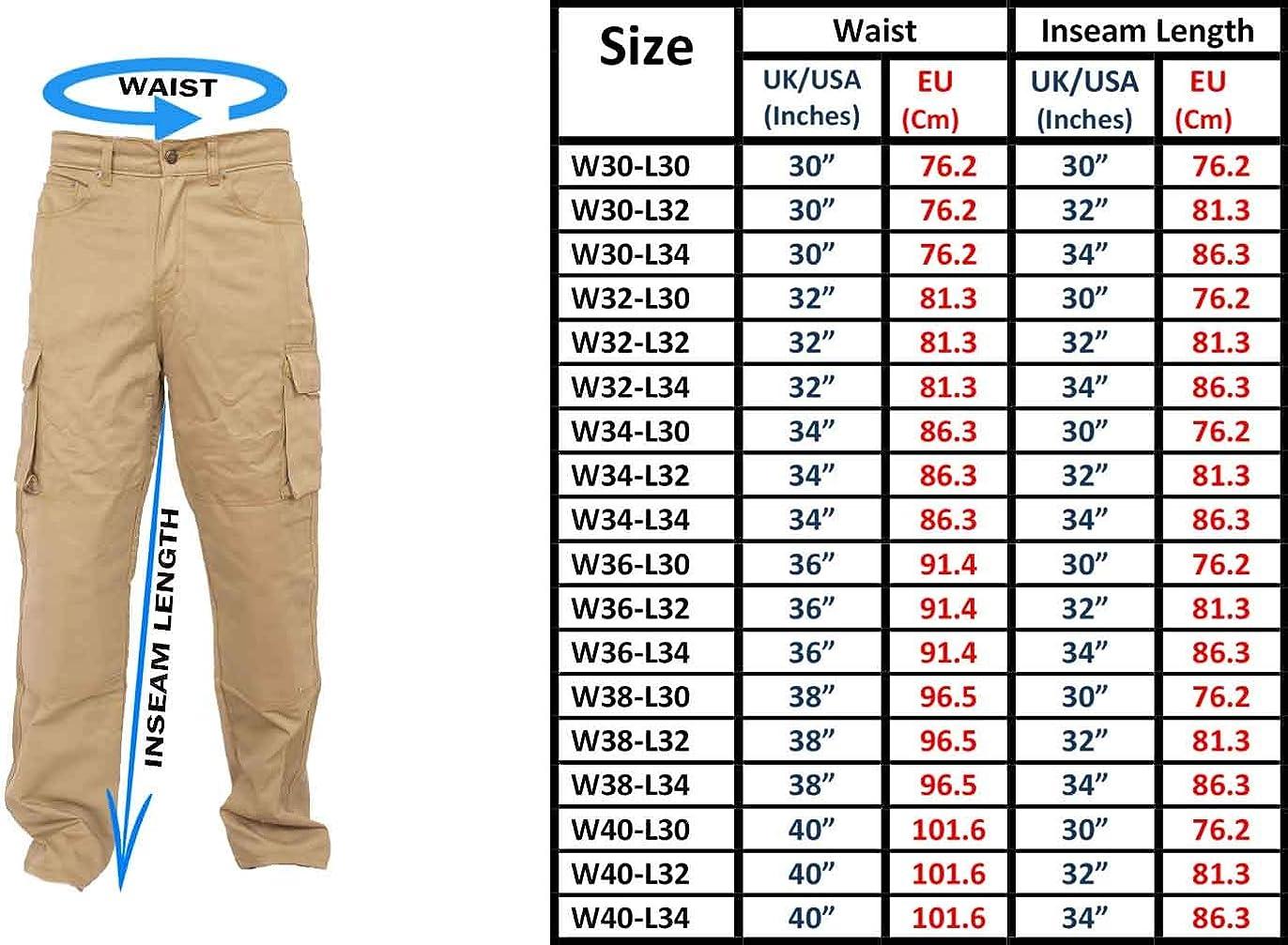 Newfacelook Mens pantaloni Cargo lavorano per impieghi pesanti pantaloni dritti montare Jeans