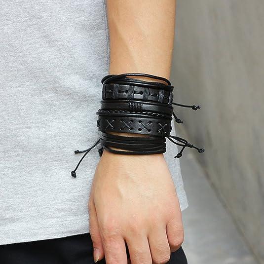 AIUIN Bracelet Chaine en Cortex Style dempreinte de Mod/èle de Mode R/églable Bijoux Poignet D/écoration Romantique Cadeau de Mariage No/ël