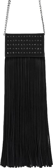 Zara - Bolso mochila de piel para mujer Negro Negro Medium