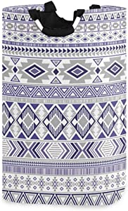 Nander Laundry Basket Purple Tribal Ethnic Pattern Large Hamper Foldable Bag for Dirty Clothes Organizer Laundry Bag Picnic Baskets Print Toy Gift Organizer