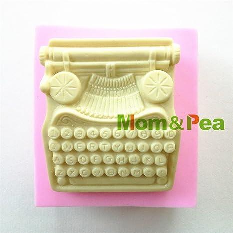 Star-Trade-Inc 0873 - Molde de silicona con forma de máquina de escribir