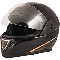 STARVIN RHYNOX FULL FACE HELMET    BLACK COLOR    ISI APPROVED    WITH SILVER HYDROGRAPHICS MODEL- JETTY