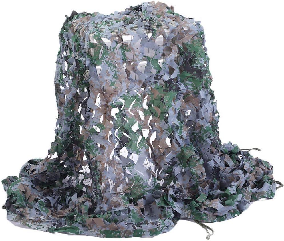 オーニング 日焼け止めネット 迷彩ネット 陸軍メッシュネット軽量耐久性のための日よけ装飾狩猟ブラインド撮影キャンプ写真撮影ジャングル 遮光ネッ (Color : Woodland Digital, Size : 6 x 6 M)