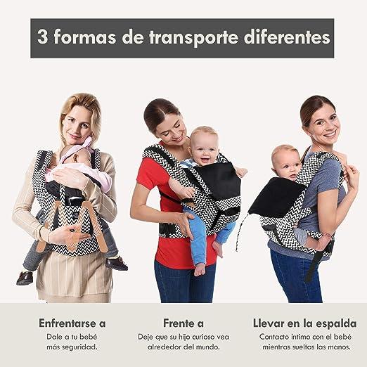 Lehoo Castle Mochilas Portabebé Manos libres, Portabebes Ergonómico Multiposición Ajustable, Marsupio para Bebe