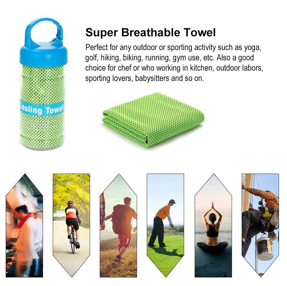 Viajes al Aire Libre Entrenamiento Wifehelper Toalla de Secado r/ápido s/úper Transpirable con Botella de Almacenamiento para Deportes Gimnasio