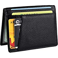 Netspower Portafoglio Con Protezione Rfid,Porta Tessere Slim Tascabile, Slim Wallet, Regalo per Uomo Porta Carte di Credito-Nero