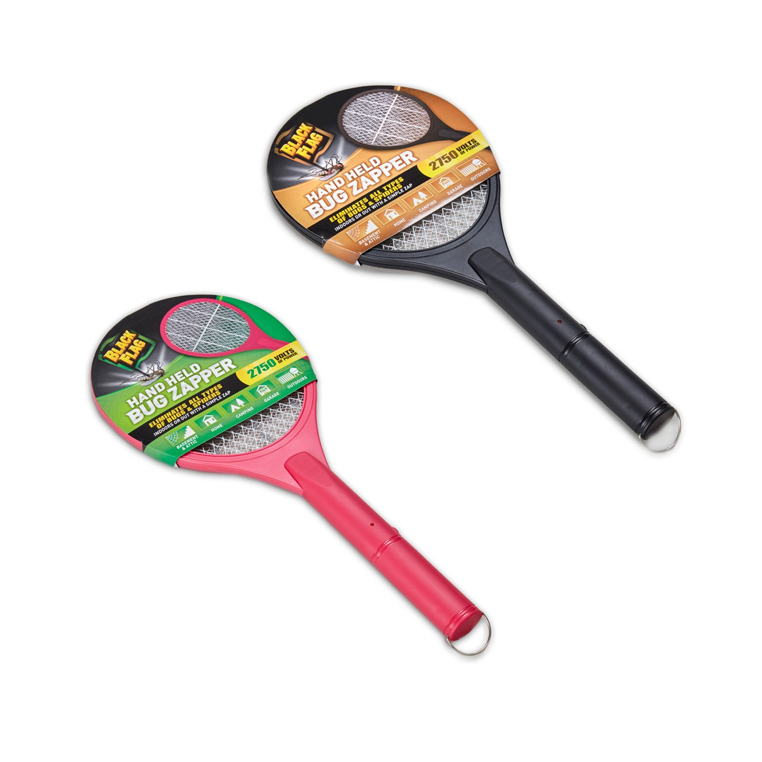 Black Flag Handheld Bug Zapper - 2-Pack, 1 Black and 1 Pink Greenscapes ZR-4454