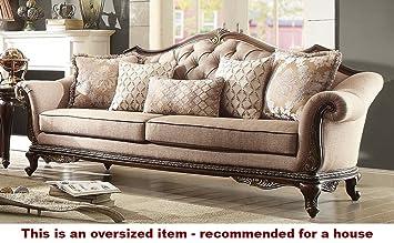 Amazon Com Bonaventure Park Sofa In Brown Chenille Kitchen Dining
