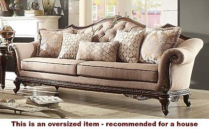 Amazon.com: Bonaventure Park Sofa in Brown Chenille: Kitchen & Dining