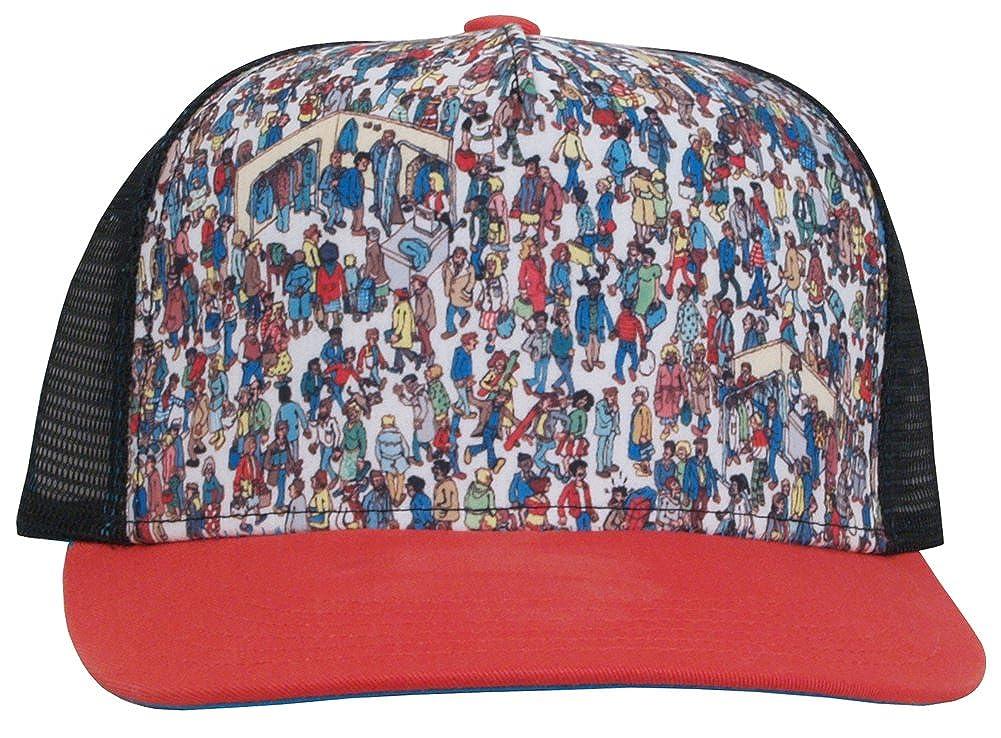 9c69ef87289 Where s Waldo Trucker Style Adult Adjustable Snapback Baseball Cap Hat   Amazon.ca  Clothing   Accessories