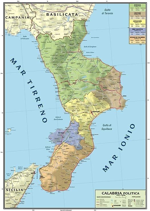 Reggio Calabria Cartina Geografica.Pe Focuri De Picioare Ultima Reducere Cumpăra Bine Cartina Calabria E Sicilia Amazon Cityadvertising Ro
