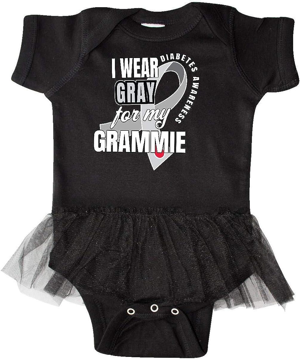 inktastic Diabetes Awareness I Wear Gray for My Grammie Infant Tutu Bodysuit