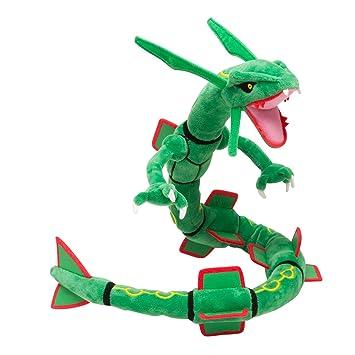 pokemon center plush doll rayquaza amazon co uk toys games
