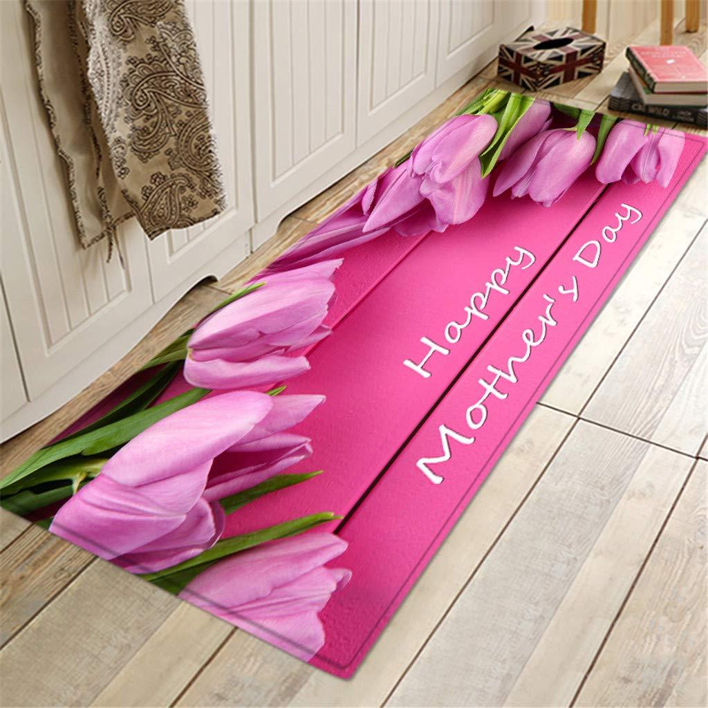 A Sixcup  60cm x 180Cm//23.6 x 72.0 inch Modern Vintga Stripe Rug Hall Runner Mat Carpet