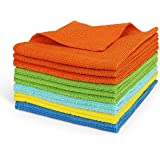 AIDEA Microfiber Cleaning Cloths Softer, More Absorbent, Lint-Free, Wash Cloth for Home, Kitchen, Car, Window (12in.x 12in.)—12PK