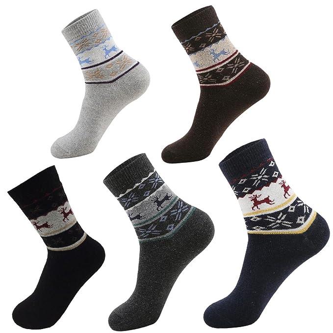 christmas holiday mens socks 5 pack mens christmas socks wool winter socks for men by - Christmas Socks For Men