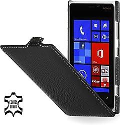 StilGut Ultraslim, housse exclusive de cuir véritable pour le Nokia Lumia 920, old style noir
