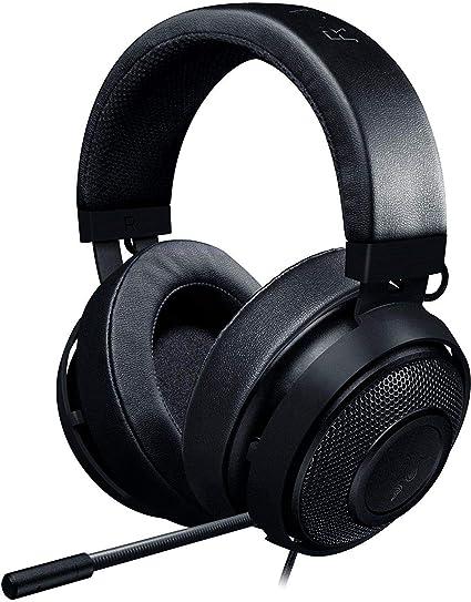 Razer Kraken Pro V2 Oval Auriculares para juegos y música (gaming headset para PC, MAC, XBOX y PS4, diafragmas de audio de 50 mm, estructura de