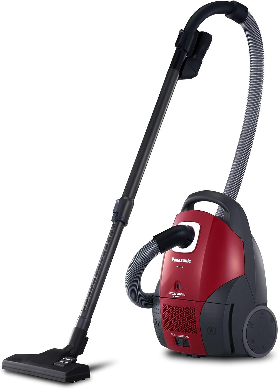 Panasonic MC-CG522RC79 - Aspiradora con bolsa (1300 W con potencia de succión de 370W), color rojo: Amazon.es: Hogar