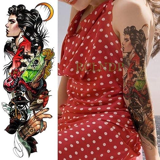 3 Piezas Etiqueta de Tatuaje a Prueba de Agua Brazo Completo Arma ...