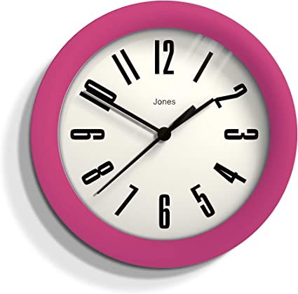 Jones Clocks Hot Tub Wall Clock 16cm Perfect As A Kitchen Clock Living Room Wall Clock Or For Any Small Space Hot Pink Amazon Co Uk Kitchen Home