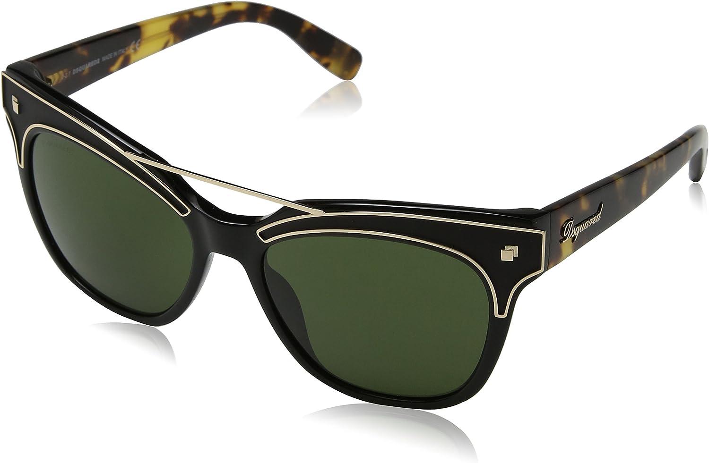 DSQUARED2 Dsquared DQ0216 57-011 01N Gafas de sol, Negro (Schwarz), 55 Unisex Adulto