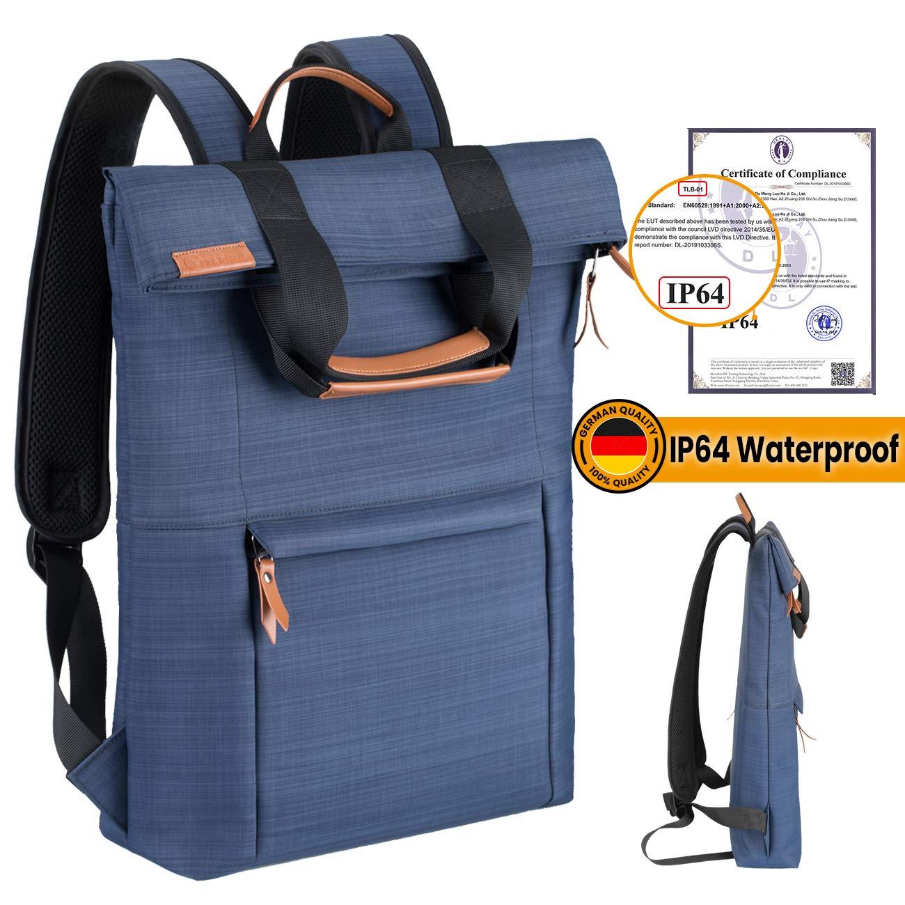 TARION Slim Laptop Backpack Lightweight Stylish School Computer Backpack IP64 Waterproof for Travel Business College Women Men Fits 15.6 Inch Laptop