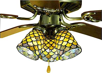 Meyda Tiffany 27473 Hanging Head Dragonfly Fan Light Shade