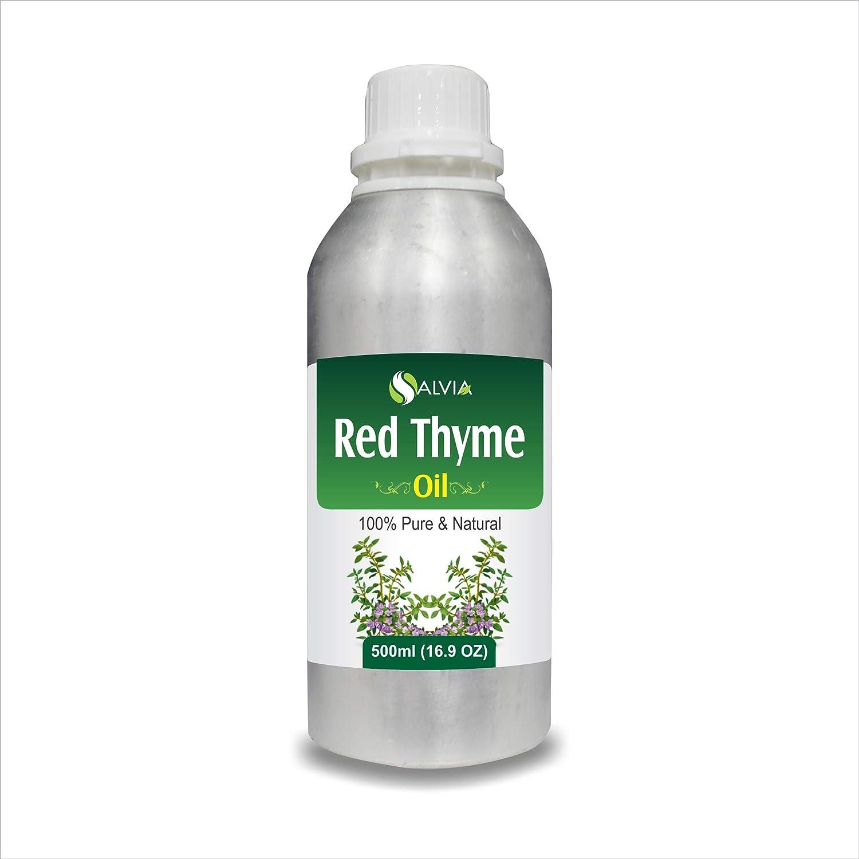 RED Thyme Oil (Thymus VULGARIS) 100% Natural Pure Essential Oil (500ml) B07HMHJZS8  500 ML