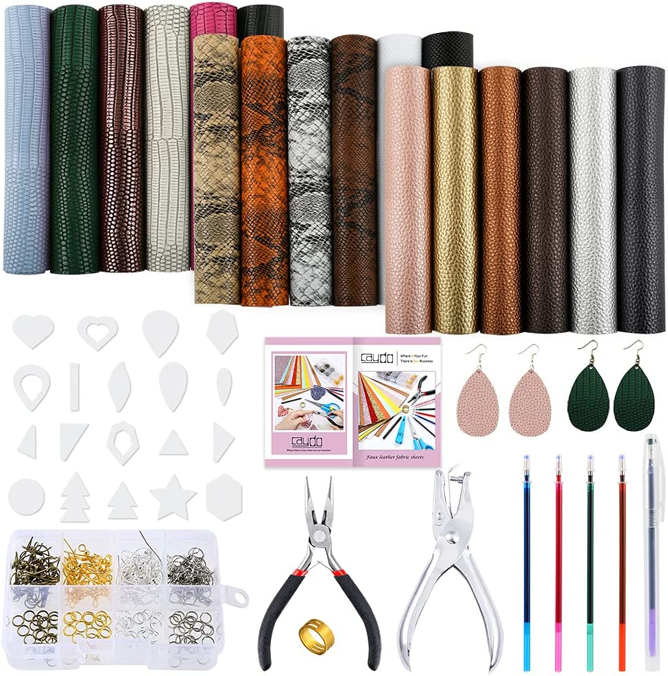 Sunday faux leather for sewing bows and earrings