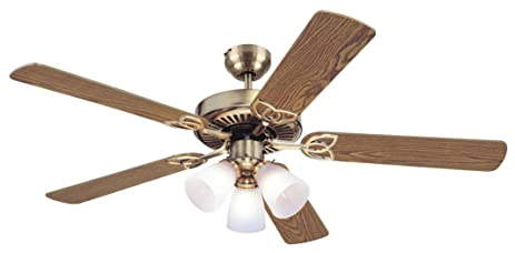 Westinghouse 7804265 vintage 52 inch ceiling fan antique brass westinghouse 7804265 vintage 52 inch ceiling fan antique brass finish mozeypictures Gallery