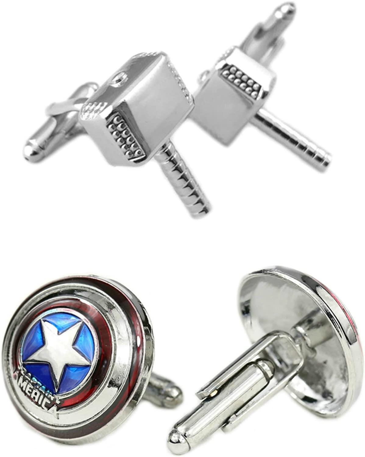 The Avengers Super Hero 3D Iron Man Men/'s Wedding Party Groom Shirt Cufflinks
