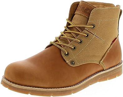 online retailer 6ef39 b363e Levi´s Footwear Jax Medium Yellow/Herren Schnürstiefel Braun ...