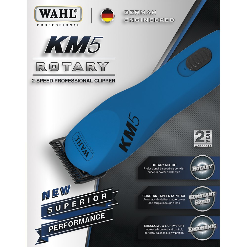 Wahl Professional Animal KM5 2 Speed Clipper Kit, Gumball Blue #9787-200 by Wahl (Image #2)