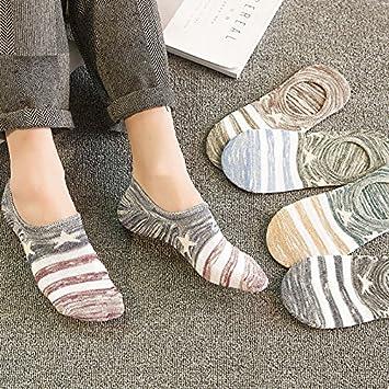Wanglele Invisible De Silicona, Primavera Y Verano Calcetines Calcetines Finos, Hombres Calcetines Calcetines Invisibles